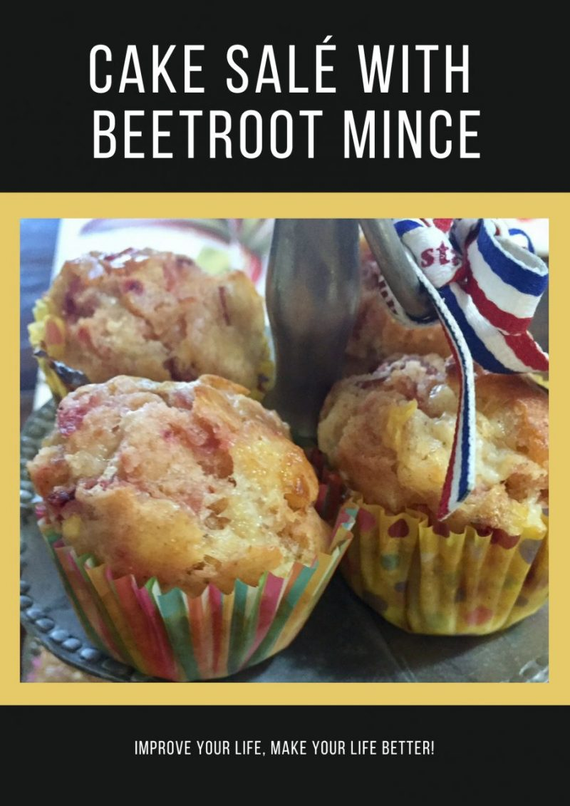 Cake Salé With Beetroot Mince